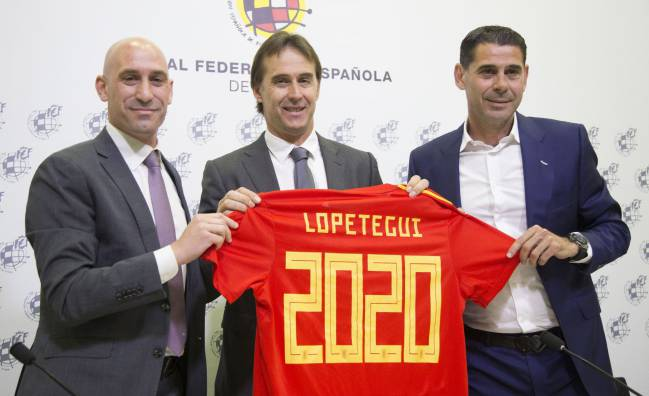 Sticking around | Ribiales, Lopetegui and Hierro, 22/05/18