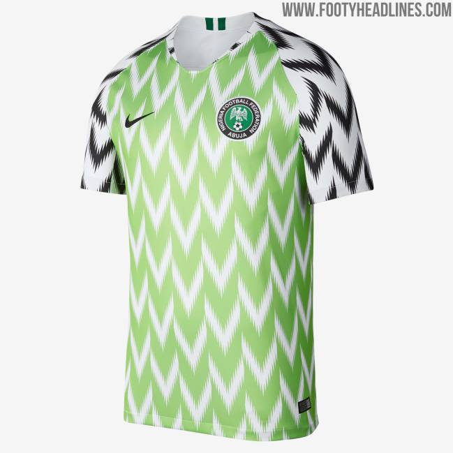 the latest 6a9e1 3cd23 Nigeria World Cup jersey breaks record with three million ...