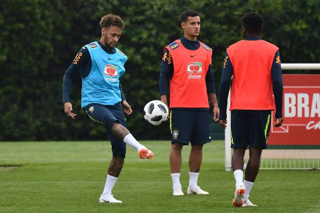 Boys in Brazil | Neymar taking part in a training session at Tottenham Hotspur's Enfield Training Centre.