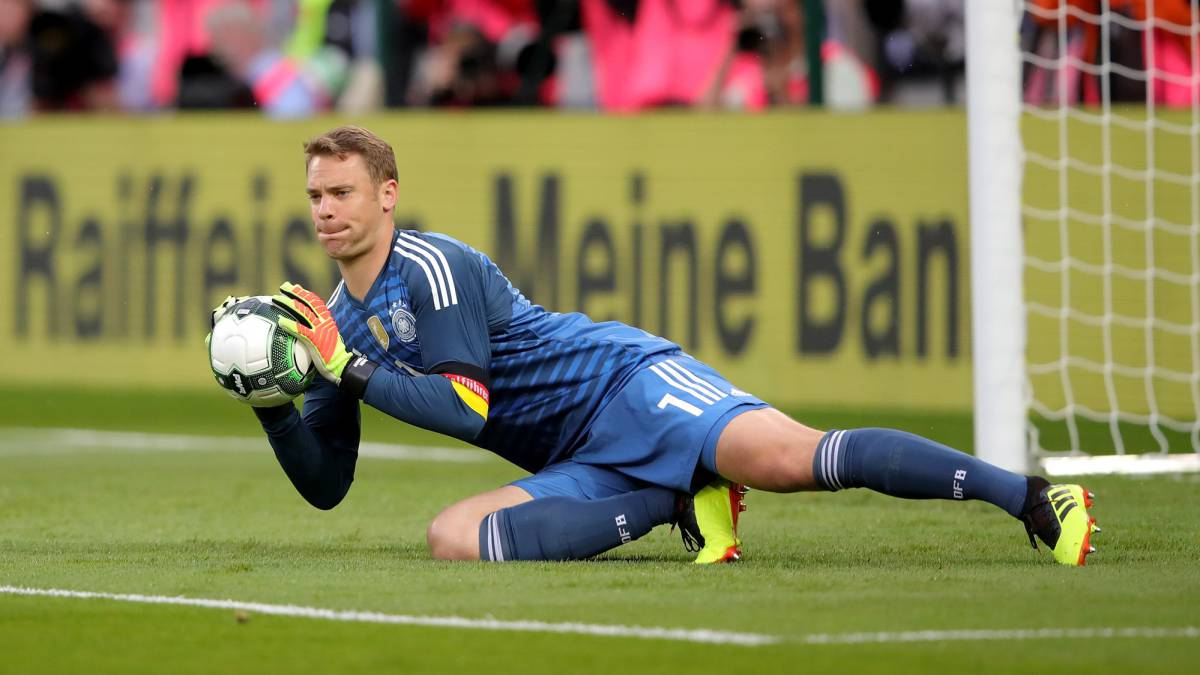 Manuel Neuer, goalkeeper of Germany makes a save during the International Friendly match between Austria and German