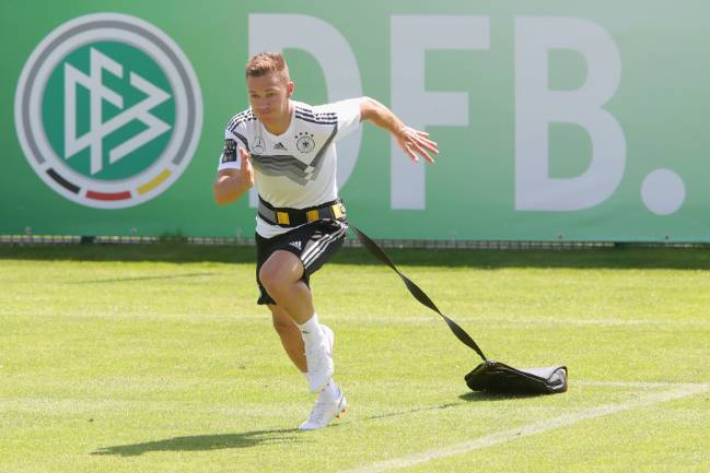 Back for more | Joshua Kimmich during a training session of the German national team at Sportanlage Rungg.
