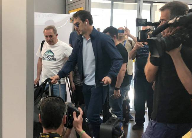 Julen Lopetegui at Krasnodar airport this evening where he will board a flight back to Madrid.