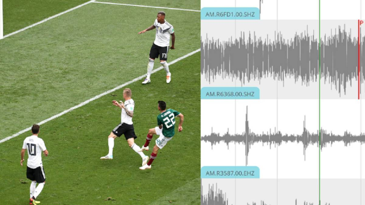 Mexico earthquake detected after Lozano goal against Germany