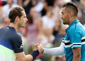 Kyrgios downs 'legend' Murray as Dimitrov and Djokovic progress