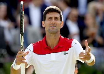 Djokovic beats Dimitrov as Kyrgios lays down a marker