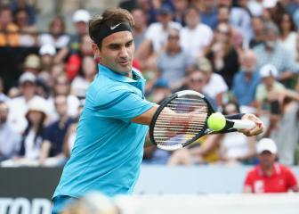 'Fortunate' Federer closes in on Halle title