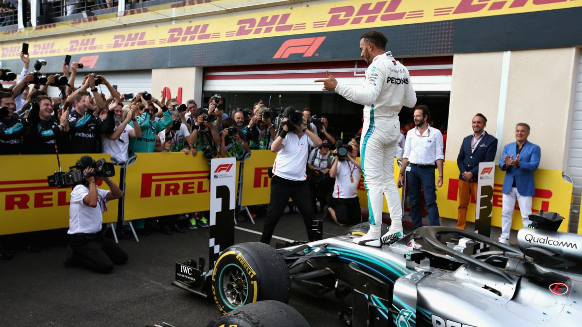 Which F1 races has Lewis Hamilton not won?