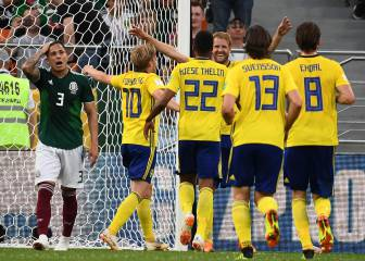 It was all yellow but Mexico survive after Germany lose