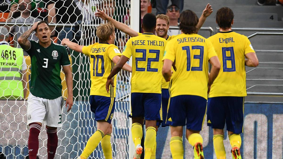 Mexico 0-3 Sweden: World Cup 2018 Group F: match report