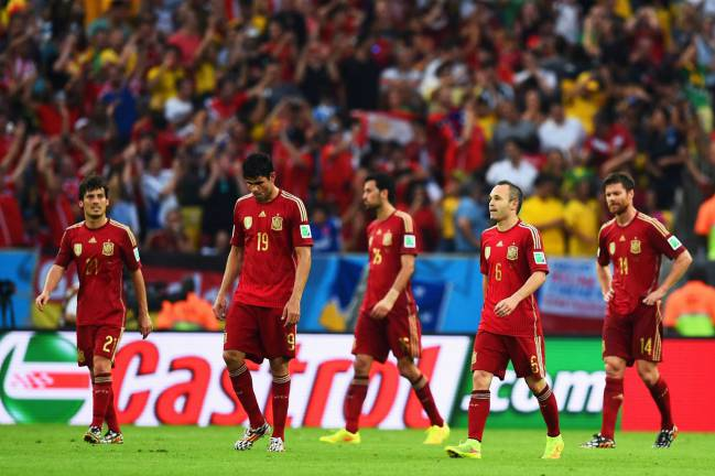 Disappointment for the previously all-conquering Spain.