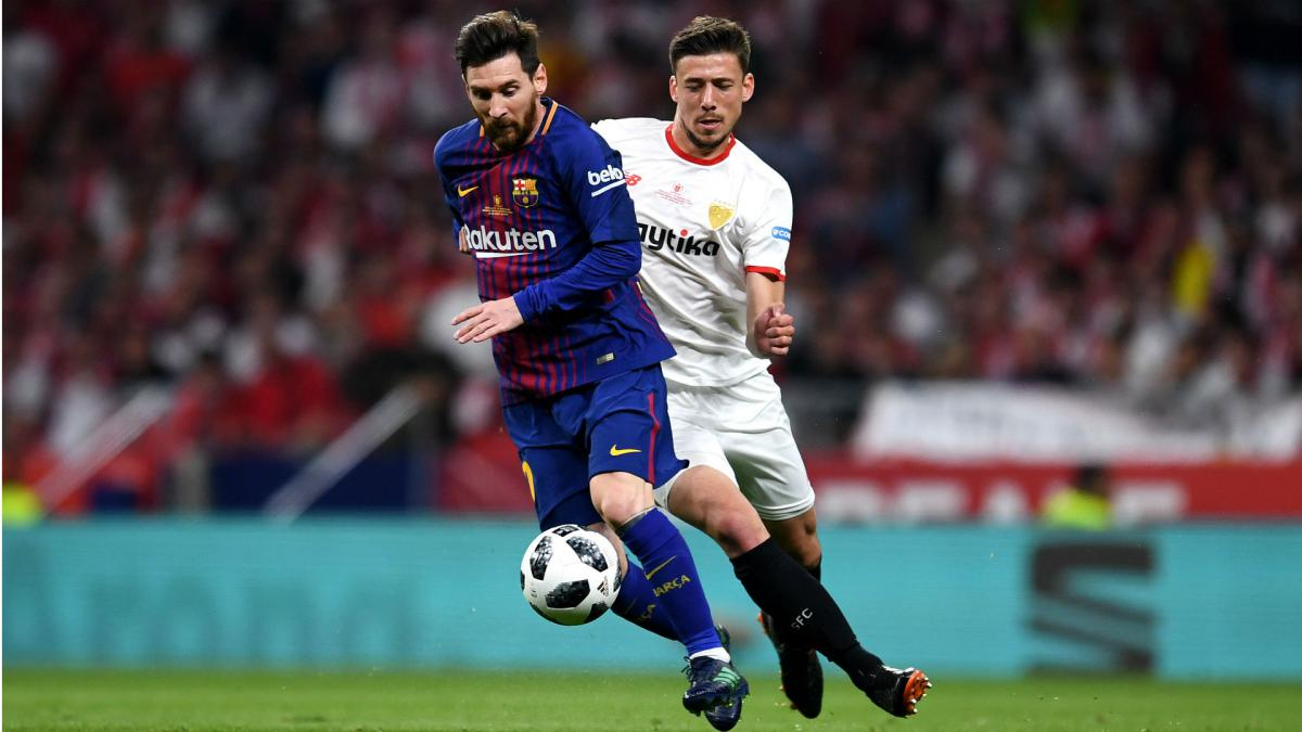 Barcelona must trigger release clause for Lenglet, says Sevilla chief Caparros