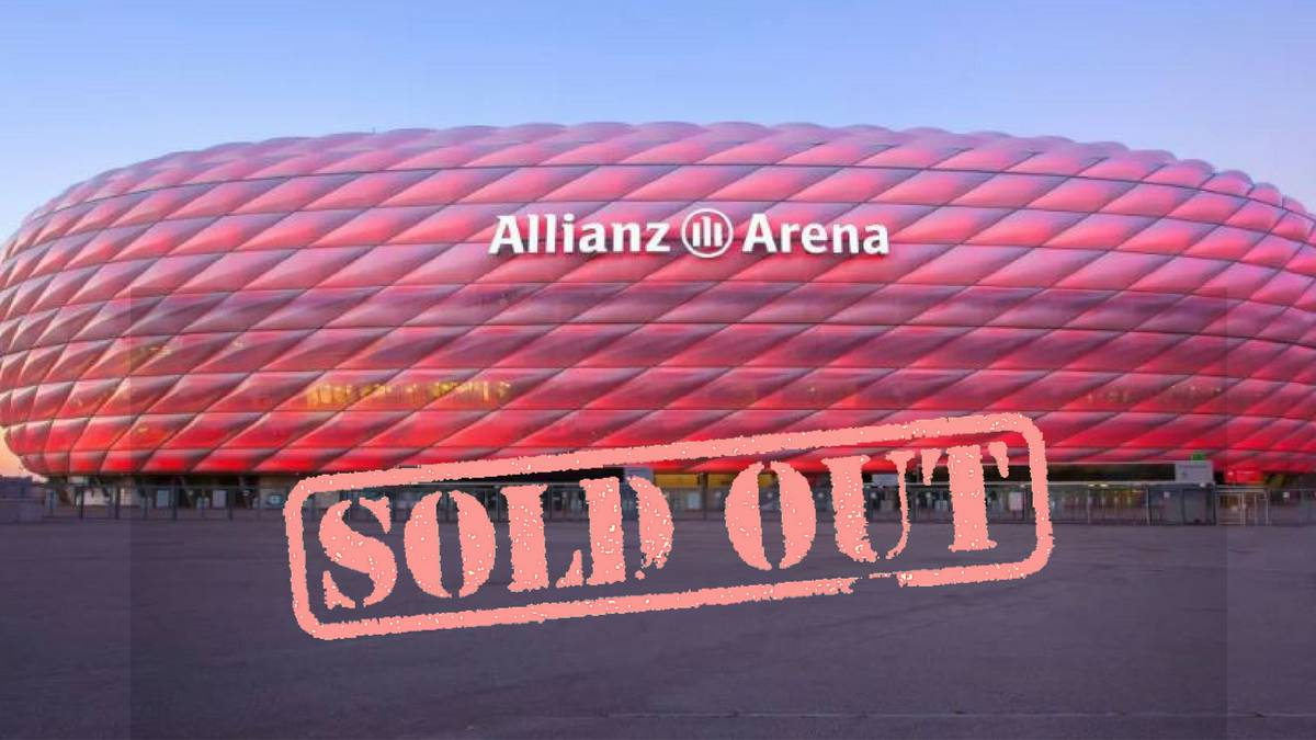Bayern Munich confirm that all 18/19 home games are sold out