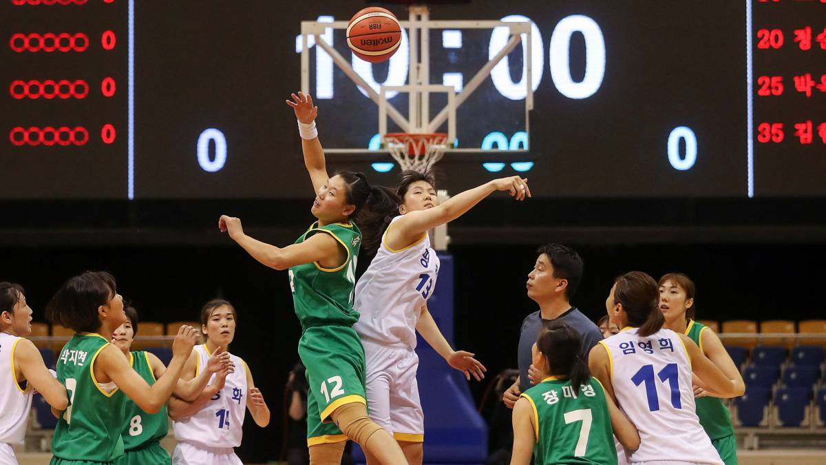 North and South Korea hold friendly basketball games in Pyeongyang