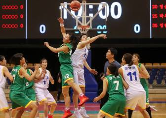 North and South Korea unite for friendly basketball games