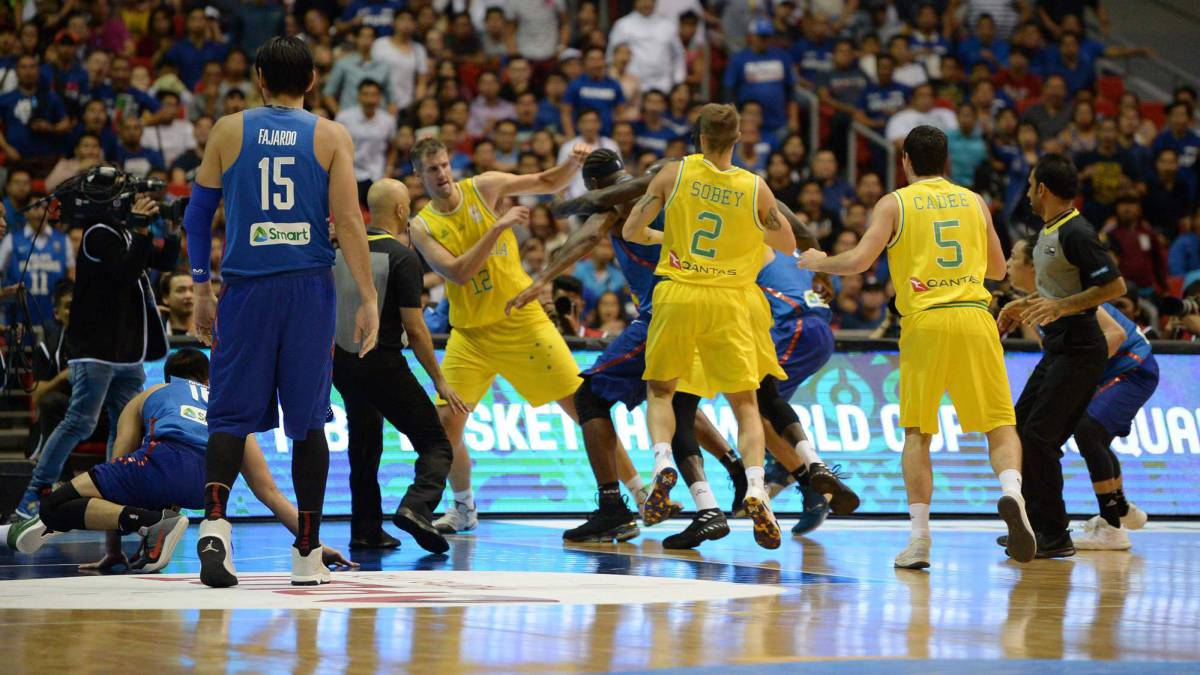 "Aussies and Filipinos ""sorry"" for FIBA World Cup qualifier brawl"
