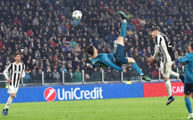 Cristiano's overhead kick against Juventus