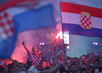 Croatians take to the streets en masse to celebrate historic win