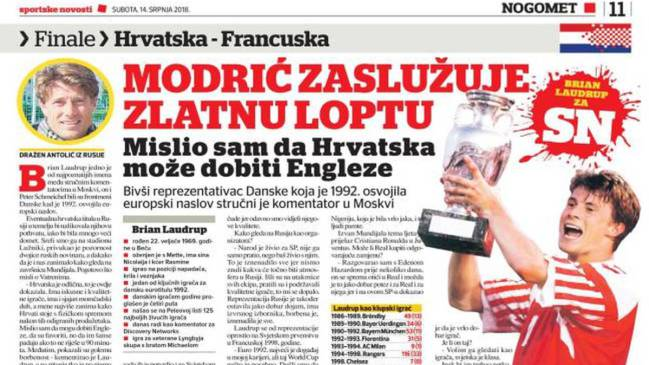 Brian Laudrup made his claims when he spoke to Sportske Novosti earlier this week.