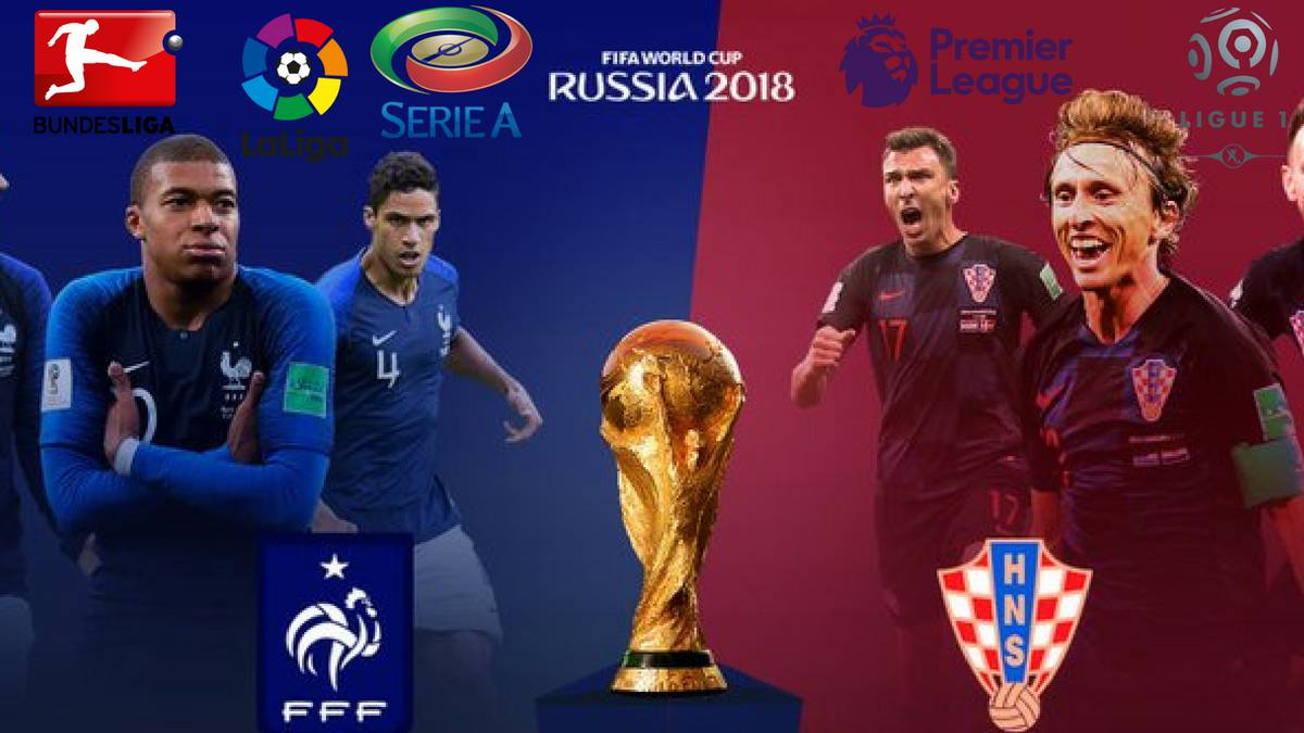 France vs Croatia: representing the leagues of Europe