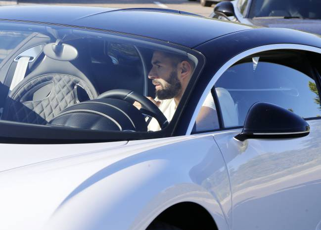 Leaving, but not on a jet plane | Karim Benzema departs week one of training.