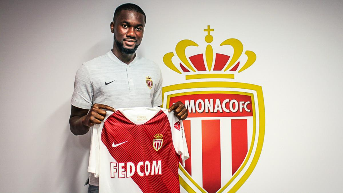 Monaco sign Aholou as Moutinho leaves for Wolves