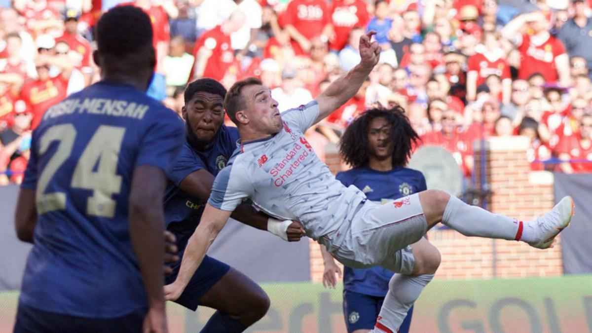 """That's not normal"": Klopp stunned by Shaqiri overhead kick"