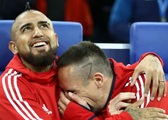 Ribery says emotional goodbye to Vidal