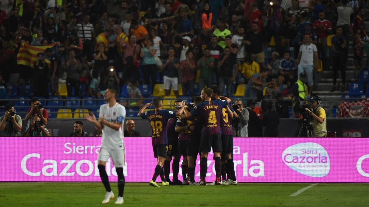 d3af01f09 Spanish Super Cup 2018  Barcelona 2-1 Sevilla match report - AS.com