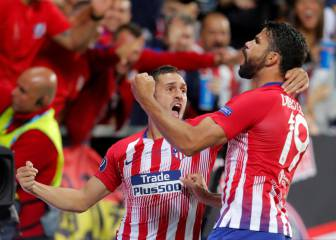 Saúl fires Atlético Madrid ahead in extra time
