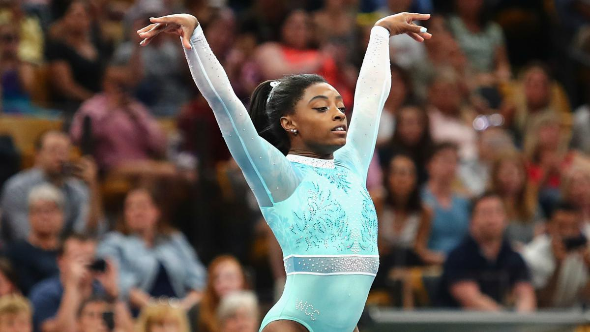 Biles becomes first woman to win five U.S. Gymnastics Championships all-around titles