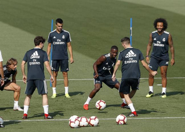 Vinicius Jr training with Real Madrid.