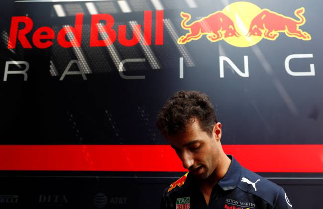 Red Bull's Daniel Ricciardo ahead of the Belgian Grand Prix.
