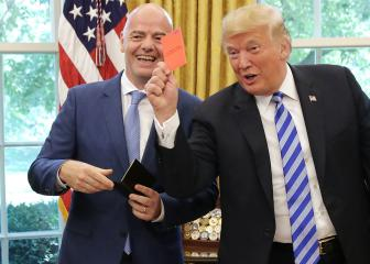 Trump gives media red card using Fifa boss Infantino's gift