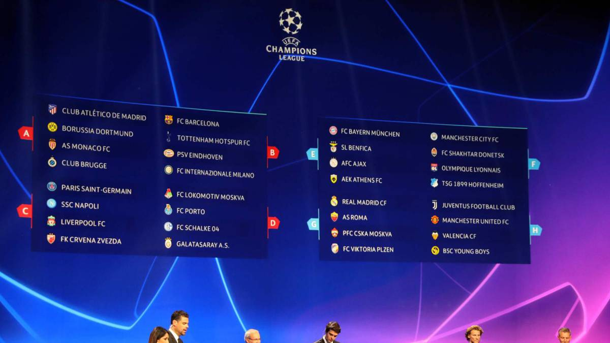 Uefa Champions League 2018/19 groups and award winners