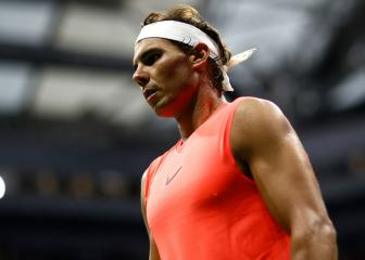 Rafa Nadal tight-lipped over knee injury scare
