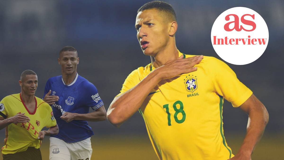 Richarlison, the most expensive signing in Everton's history and recent call-up to the Brazil national side spoke to As.