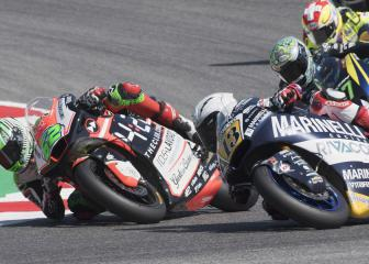 Moto2 rider's contract terminated after pulling rival's brake lever