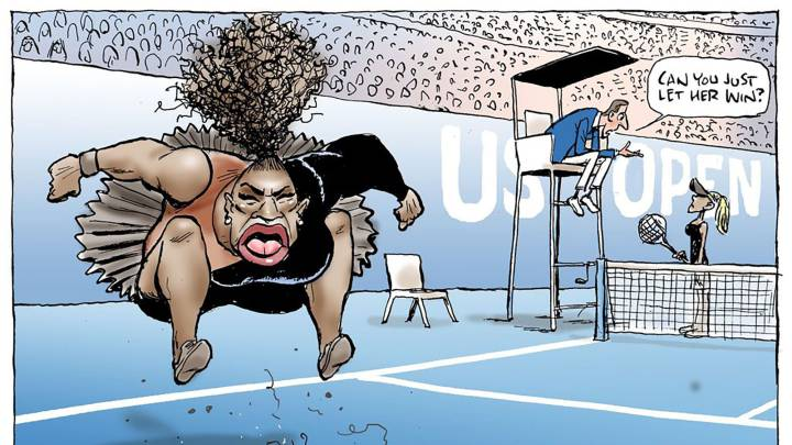 Australian cartoonist criticized over \'racist\' Serena Williams sketch