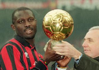 George Weah, 51 and son Timothy, 18, play on same day
