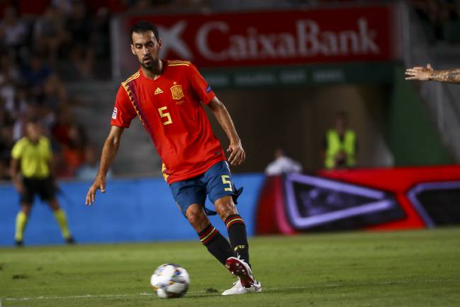 Sergio Busquets, key for Barcelona and Spain's success.