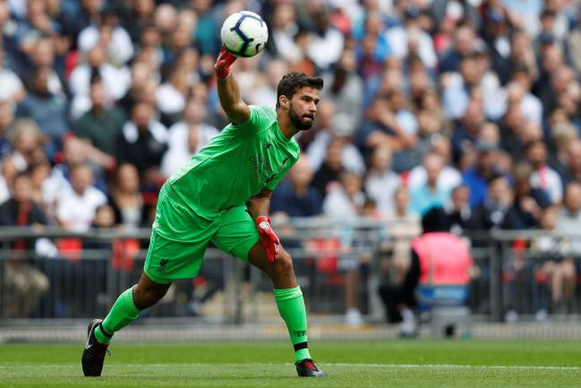 Liverpool's Brazilian goalkeeper Alisson Becker was with Roma last season.