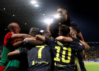 Late goals from Cristiano and Bernardeschi see Juve march on