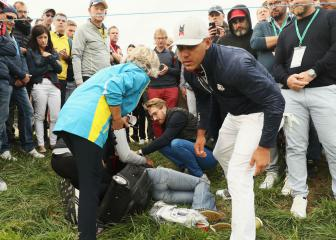 Koepka shaken after tee shot strikes spectator in face