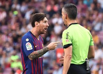 Messi booked for angry rant at end of Athletic game