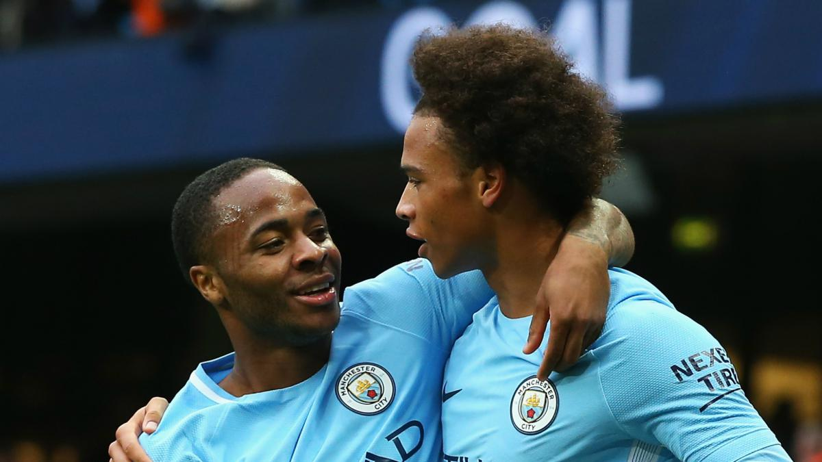 Guardiola impressed by Sterling and Sané consistency