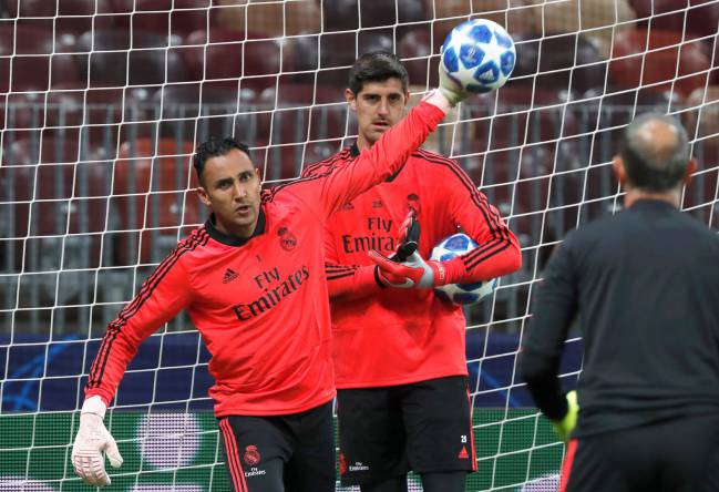 Keylor Navas in front of Thibaut Courtois - we'll see.