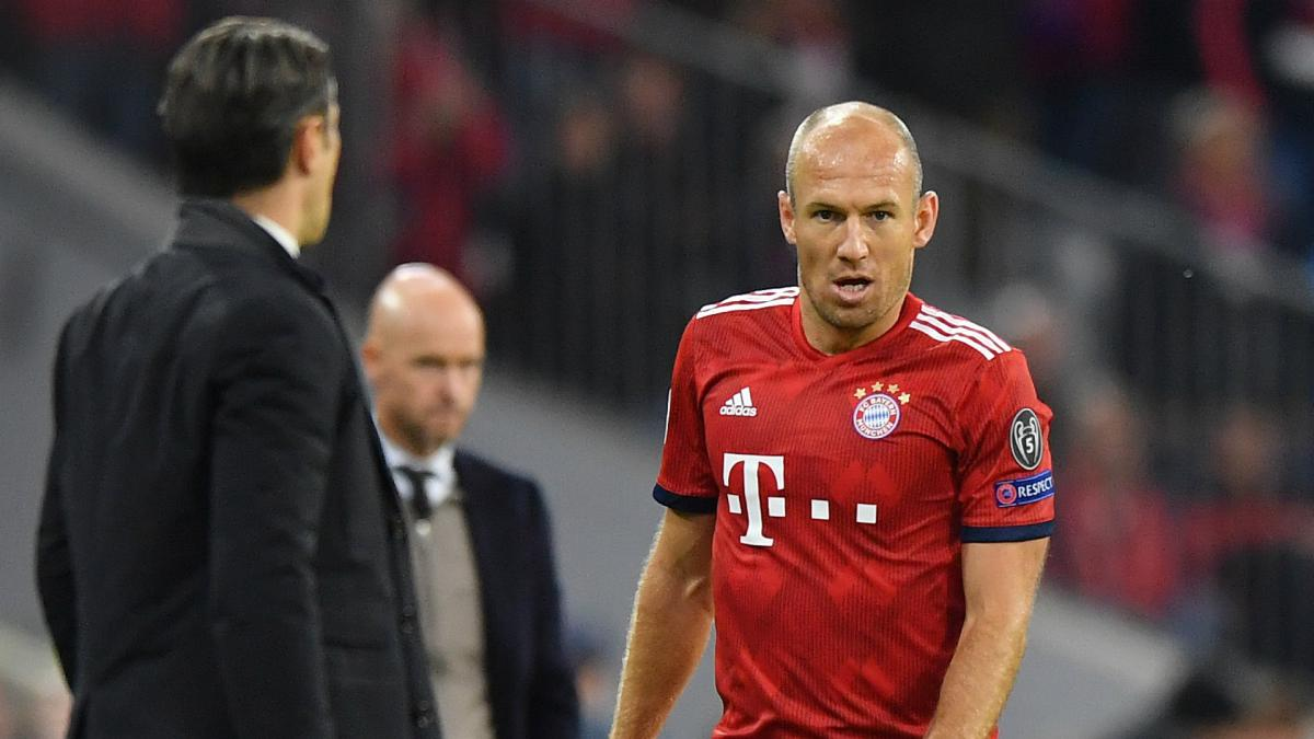 Things don't go wrong in a week – Robben calm amid Bayern struggles