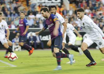 Valencia and Barcelona share the spoils at Mestalla