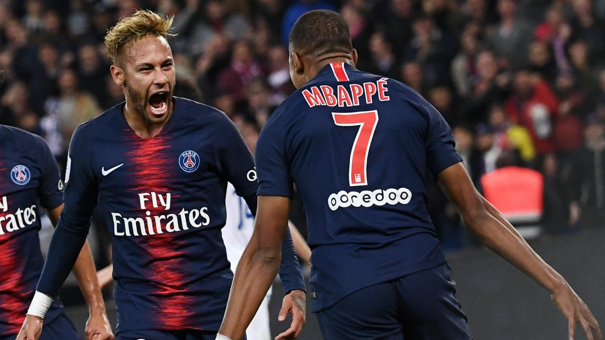 He is a phenomenon - Neymar hails four-goal Mbappe