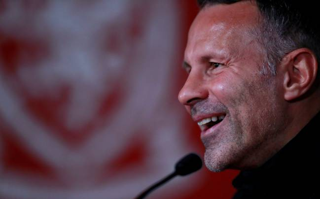 Wales manager Ryan Giggs during a press conference
